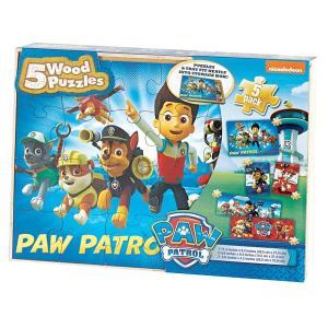 パウパトロール   おもちゃ ウッド パズル  12から24ピース  木製  _収納 BOX ケース 子供 知育玩具 ギフト|acomes