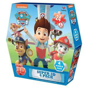 パウパトロール   おもちゃ  パズル  4個セット マーシャル  チェイス スカイ ライダー 子供 知育玩具 ギフト|acomes