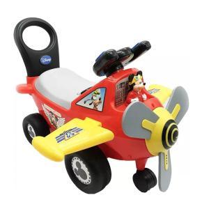 子供 乗り物 ディズニー ミッキー マウス 飛行機 ライト&サウンド 乗用玩具 足けり 12か月から3歳 通常便は送料無料|acomes