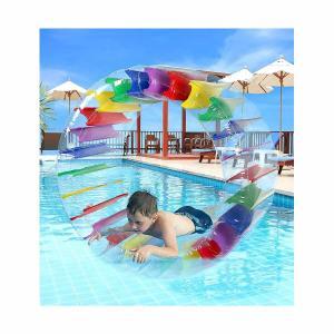 プール 家庭用 Greenco 水遊び プール 海 インスタ映え 海水浴 水車 グッズ 浮き輪|acomes