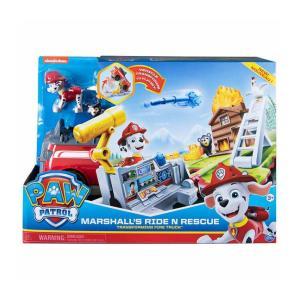 パウパトロール  おもちゃ マーシャル  ライド & レスキュー 消防車 フィギュア  男の子 女の子 子供 幼児|acomes