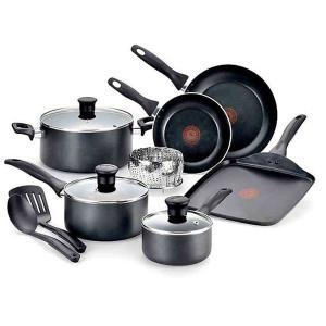 T-fal ティファール 調理器具セット ノンスティック 焦げ付かない 鍋 フライパン 12種類 セット 海外 キッチン用品 acomes