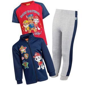 パウパトロール グッズ 子供 服 男児 ジャケット Tシャツ スウェットパンツ 3セット ネイビー|acomes