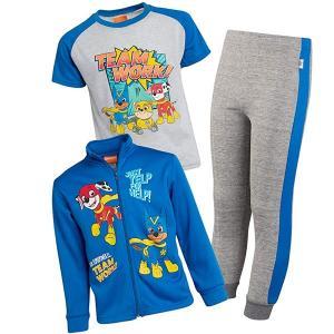 パウパトロール グッズ 子供 服 男児 ジャケット Tシャツ スウェットパンツ 3セット ロイヤル|acomes