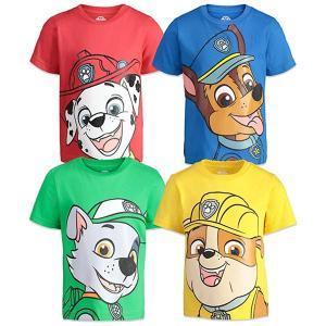 パウパトロール グッズ 服 tシャツ 4枚セット 男児 ニコロデオン チェイス マーシャル ラブル&ロッキー|acomes