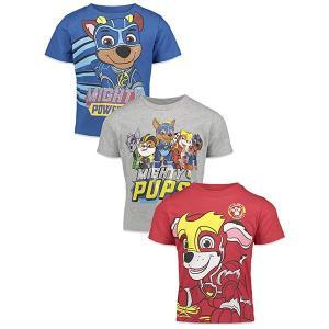 パウパトロール グッズ 服 tシャツ 3枚セット 男児 ニコロデオン Mighty Pups|acomes