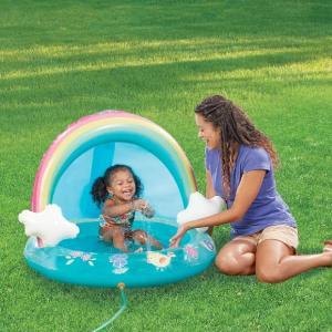 プール 家庭用 ビニール プール 噴水 幼児 ベビー 水遊び レインボー 虹 水遊び パステル スプリンクラー|acomes