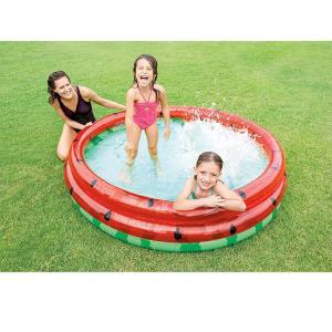 プール 家庭用 ビニール プール  スイカ  水遊び 水遊び フルーツ 可愛い カラフル 167cm|acomes