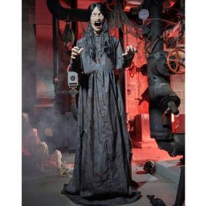 装飾 飾り デコレーション 不気味な女性 175cm 喋りながら 動く 飾り デコレーション ホラー  恐怖 グッズ ハロウィン 装飾|acomes