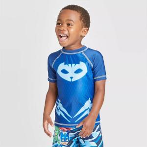 パジャマスク  水着 ラッシュガード UPF50 日焼け ガード 水着 男の子 青 ブルー プール ビーチ 海|acomes