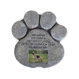 ペット メモリアル グッズ 犬 猫 お墓 墓石 写真 フォトフレーム ペット記念石|acomes