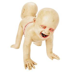【2020年9月中旬入荷予定】ゾンビ 結合された 赤ちゃん 飾り デコレーション 子供   動く 喋る ハロウィン パーティ お化け屋敷 ホラー|acomes