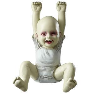 恐怖 赤ちゃん  47cm 飾り 怖い 赤い目 デコレーション 不気味 ハロウィン パーティ お化け屋敷 ホラー ゾンビ|acomes
