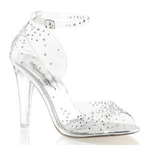 シンデレラ ガラスの靴風 大人用 クリア コスプレ グッズ シューズ サンダル ヒール プリンセス プリーザー|acomes