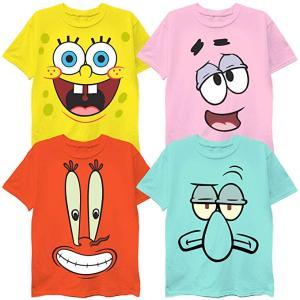 スポンジボブ Tシャツ 子供用 4枚セット パトリック イカエドワード クラブス キッズ|acomes