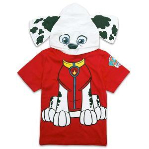パウパトロール コスプレ tシャツ ボーイズ フード付きTシャツ 子供 ニコロデオン レッド|acomes