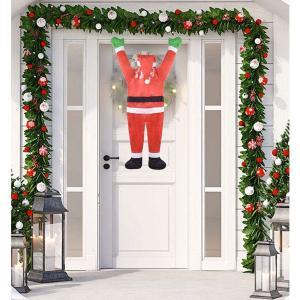 クリスマス 飾り ぶら下がる サンタ ハンギング クライミング サンタクロース 屋内 屋外 飾り付け デコレーション 106cm|acomes