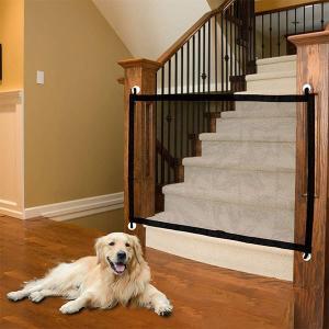 ペットゲート ベビーゲート 赤ちゃん 犬 侵入防止 メッシュ ネット ガード フェンス 柵 廊下 階段 キッチン セイフティーネット|acomes