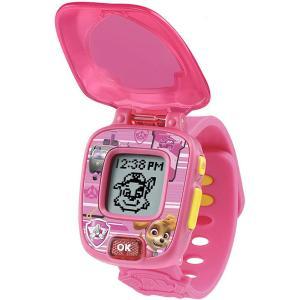 パウパトロール ラーニングウォッチ スカイ  ピンク 時計 アラーム タイマー ストップウォッチ 4種のゲーム 通常便は送料無料|acomes