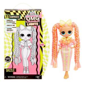 LOLサプライズ グッズ ライト O.M.G.  ダズル ファッションドール with 15サプライズ  ギフト おもちゃ 人形 エルオーエル  ブラックライト|acomes