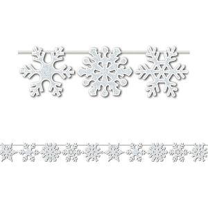 クリスマス デコレーション グッズ ガーランド 天井飾り 雪模様 雪の結晶 3.6m|acomes