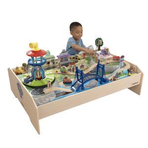 パウパトロール おもちゃ グッズ プレイテーブル 木製 KidKraft 子供 プレゼント トラック レール 消防車 マーシャル チェイス|acomes