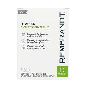 ホワイトニング 歯 テープ シート 海外 レンブラント Rembrandt 1weekホワイトニング ストリップ28枚入り 14回分 セルフ 自宅|acomes