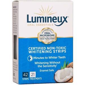 ホワイトニング 歯 テープ シート 海外 ルミノー Lumineux オーラルエッセンシャル ホワイトニング ストリップ42枚入り 21回分 セルフ 自宅|acomes