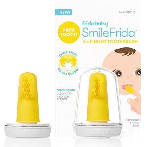 歯ブラシ 赤ちゃん 指歯ブラシ ケース付き 3ヶ月以上の乳児 シリコン製 歯磨き FridaBaby|acomes