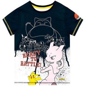 ポケモン 子供用 Tシャツ 半袖 ピカチュウ カビゴン ミュウ ポケモンボール トップス グッズ|acomes