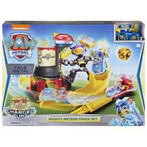 パウパトロール グッズ おもちゃ トゥルーメタル マイティ ミーティア トラック セット チェイス 車両  プレゼント|acomes