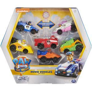 パウパトロール グッズ おもちゃ トゥルーメタル 映画 ギフトセット 6台車両 スカイ ラブル チェイス  マーシャル  ロッキー ズーマ|acomes