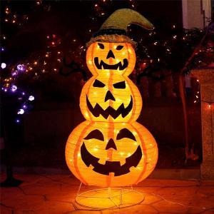 ハロウィン 飾り 屋外 カボチャ LED 膨らむ ライト 飾り 120cm イベント パーティー 庭 デコレーション パンプキン   装飾 ハロウィーン|acomes