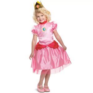 ピーチ姫 幼児 子供用 コスプレ ドレス 衣装 スーパー マリオ ブラザーズ コスチューム ハロウィン 女の子 仮装 パーティー テレビゲーム|acomes