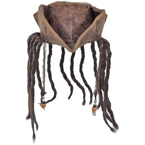 海賊 帽子 カリビアン パイレーツ ハロウィン ドレッド ウィッグ付き ハット 大人用 acomes