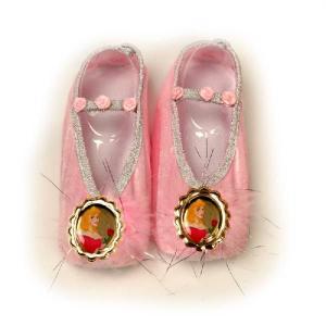 オーロラ姫 グッズ 靴 シューズ 子供用 ハロウィンプリンセス 公式 眠れる森の美女 オーロラ姫バレエシューズ コスプレグッズ acomes