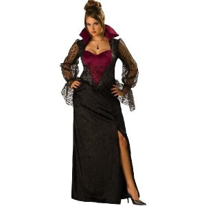 ハロウィン プレゼント パーティドレス 大きいサイズ バンパイア ドラキュラ 吸血鬼|acomes