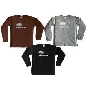 Aconcagua(アコンカグア)5.6オンス ロングスリーブTシャツ(1.6インチリブ)コットン 長袖Tシャツ メンズレディース おしゃれ|aconcagua