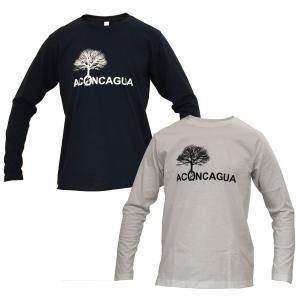 アコンカグア コットン厚手長袖 Tシャツ メンズ・レディース 5.3oz|aconcagua