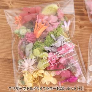 いろいろな種類のプリザーブドフラワーやドライフラワーが入る、お得な花材セットです!花材の種類や色味な...