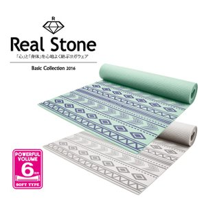 REAL STONE(リアルストーン)/プリントヨガマット 6mm (RS-G077)/ヨガグッズ/ヨガアイテム/無地【BODY ART】【basic collection 2016】【ba】|acqueen