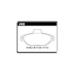 【FIATβ413フロント用】FIAT500 1.2L 8V ソリッドディスク車 低ダストパッド ユーロストリート|acre-onlineshop