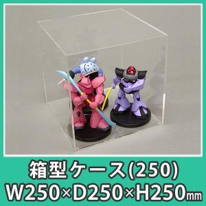 アクリルケース 透明 フィギュア コレクション 人形 模型 箱 ボックス ディスプレイ 展示 台無し『箱型ケース250』|acry-ya