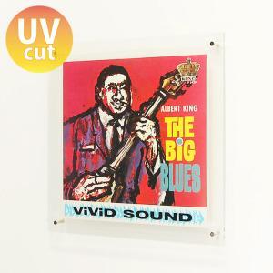 レコード 壁掛け 飾る 額縁 フレーム おしゃれ LP UVカット アクリル『レコード額スライドインタイプ』|acry-ya