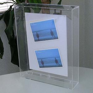 立体額 ポスターフレーム ケース ボックス 額縁 A4変形 おしゃれ『アクリル立体額A4変形サイズ_ベースオパール』|acry-ya