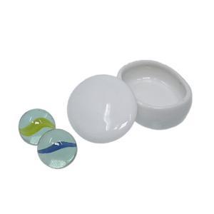 ミニチュア陶器 NO.5オーバル蓋物 ミニチュア食器 小判 ...