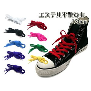 靴ひも 靴紐 スニーカー エステル平靴紐(シューレース)120cm【10】|actika
