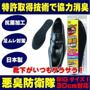 靴 消臭 消臭インソール 臭い対策 抗菌 通気性 中敷 ムレ対策 特大 大きいサイズ 悪臭防衛隊 ビックタイプ靴の臭いきっちり解消 【10】|actika