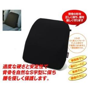 ソルボらく楽ランバーサポートジュノ ソルボ 衝撃吸収 オフィス 椅子 車いす ブラック|actika