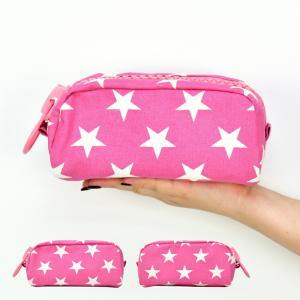 ポーチ 小物入れ ケース ポシェット 可愛い スター 星柄 メガジップ 化粧ポーチ コスメ ポーチ メール便対応 actionbag